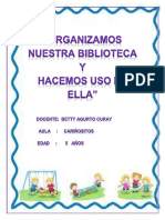 Proyecto Organizamos Nuestra Biblioteca - Betty