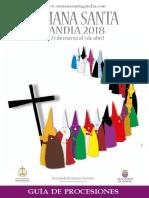 Guía Procesiones Semana Santa Gandia 2018