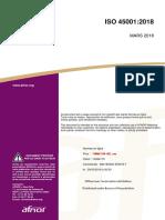 ISO 45001 Version 2018