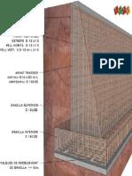 Detalle de Armado de Muro 3d