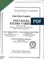 25 Nuevos Estudios Variados J.M.Londeix