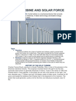 Wind Turbine and Solar Force