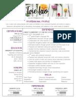resume blurred numbers