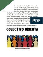 Recopilación de Artículos de Colectivo Orienta 2016-17