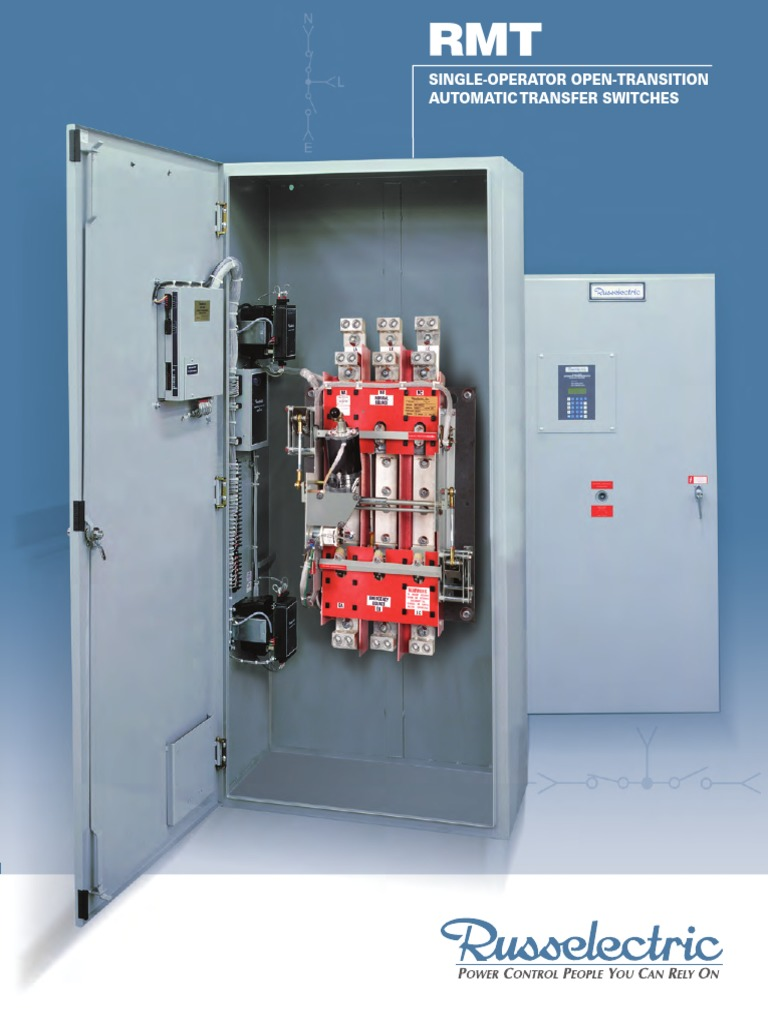 RMT (3-Cycle Open-Transition) Single-Operator Transfer Switch ...