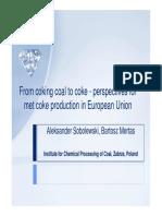 Abstract Sobolewski Coking Coal to Coke
