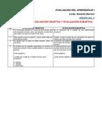 Evaluación Objetiva y Subjetiva