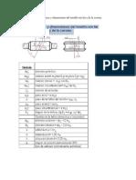 Características y Dimensiones Del Tornillo Sin Fin y de La Corona