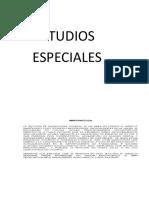 Estudios Especiales