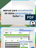Manual Actualizacion Datos Sofiaplus