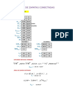 Excel Diseño de Zapatas Conectadas