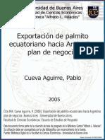 exportación de palmito