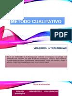 Método Cualitativo Violencia Intrafamiliar