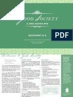 Good Society Quickstart V1 - Released 3 March 2018