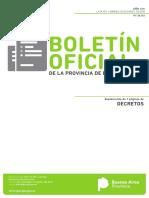 Decreto PBA Ferrocarril Provincial