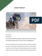Artículo  sobre el Cambio Climático_¿Te Importa El Cambio Climático?