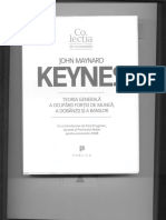 -Keynes (1936) Teoria Generala a Ocuparii Fortei de Munca, A Dobanzii Si a Banilor. Publica