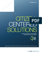 Citizen-Centered Solutions