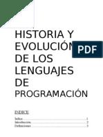 Historia y Evolucion de Los Lenguajes