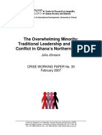 Traditional Leadership and Ethnic Conflict in Ghana