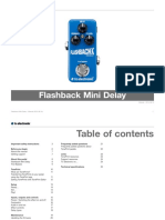 Tc Electronic Flashback Mini Delay Manual English