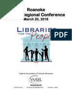 2018 Rke. Regional Conference Program