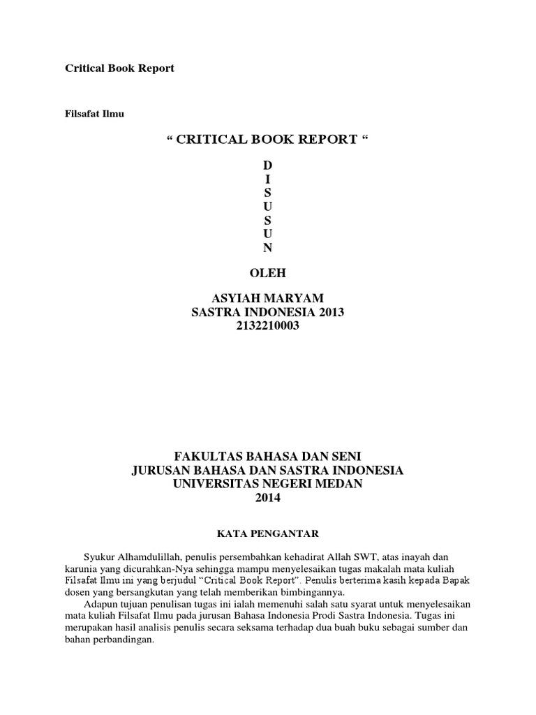 Critical Book Report Filsfat Ilmu