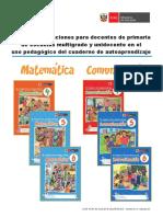 Guía de Orientaciones Para Docentes de Primaria de Escuelas Multigrado y Unidocente en El Uso Pedagógico Del Cuaderno de Autoaprendizaje 4, 5 y 6