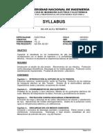 SYLLABUS EE-335 ALTA TENSIÓN I