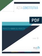 FAZ Acta Constitutiva