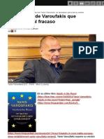 CADTM - 1 - Propuestas de Varoufakis que conducían al fracaso
