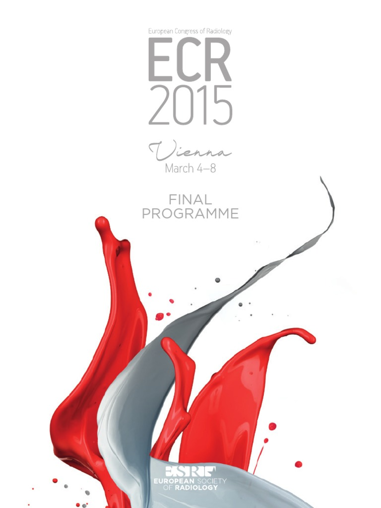 ECR 2015 Final Programme | Radiology | Medical Imaging
