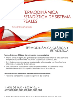 Termodinámica Estadística de Sistema Reales