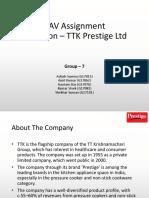Valuation of TTK Prestige