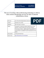 The Use of Existing Videoconferencing Technology to Deliver Video Remote Interpreting Services for Deaf Vocational Rehabilitation Clients