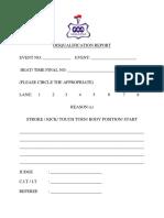 Disqualification Report