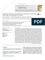 Experimental Analysis of Ethanol Dual-fuel Combustion in a Heavy-duty Diesel Engine