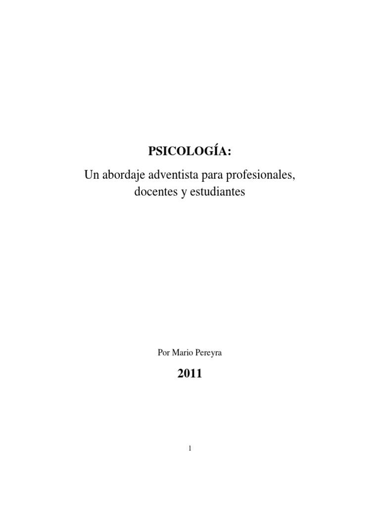 5446ff04c285 Psicología Un Abordaje Adventista- Mario Pereyra