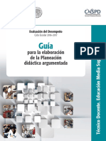 - Guia Para La Elaboracion de La Planeacion Didactica Argumentada