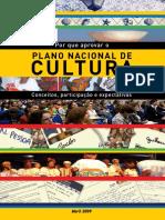 Porque Aprovar o Plano Nacional de Cultura