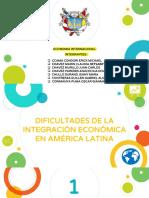 Dificultades de La Integracion Economica en America Latina