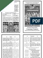 Latin Mass Society Missalette - Corpus Christi (2 Sheets)