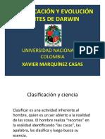 Clasificación y Evolución Antes de Darwin