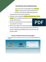 Panduan Singkat Cara Mendaftar Account Dan Mengisi Formulir STA
