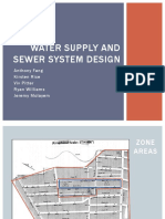 water supply and sewage system