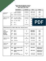 2010 MYE Timetable (Lower Sec)
