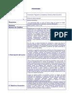 Programa Electivo Colaboracion Regulacion y Competencia - Derecho y Nueva Economia