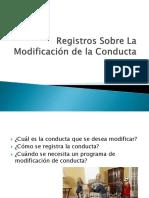 Registros Sobre La Modificación de La Conducta