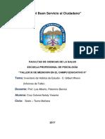 Informe Psicologico - Habitos de Estudio - c. Gilbert Wrem
