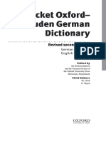 Pocket Oxford-Duden German Dictionary